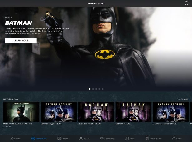 dc universe interface